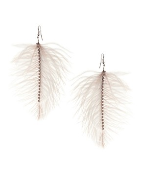 Image 1 of&#160;Lipsy Ostritch Feather Earrings