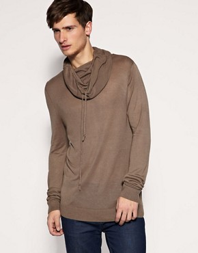 ASOS Drawstring Knitted Snood Jumper