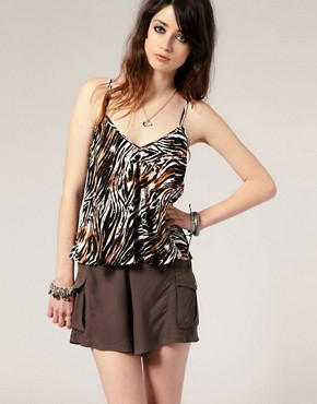 Minkpink - 'Circle Of Life' Animal Print Cami  :  cami minkpink tiger print minkpink circle of life animal print cami
