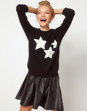 Image 1 of ASOS Star Front Sweater