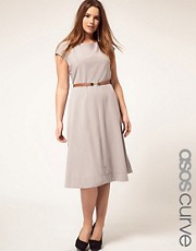ASOS CURVE Midi Dress With Belt