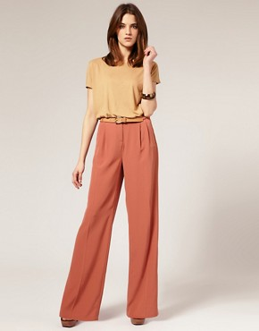 Image 1 of ASOS Tailored Palazzo Suit Trousers