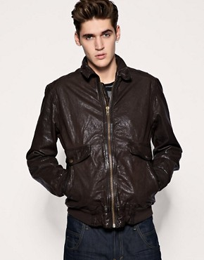 French Connection Vintage Style Leather Jacket