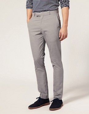 ASOS Slim Fit Light Grey Trousers