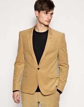 ASOS Slim Fit Cord Stone Jacket
