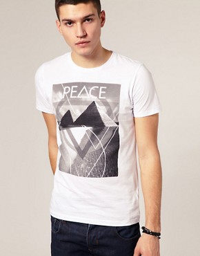 ASOS Print Peace Crew Neck T-Shirt