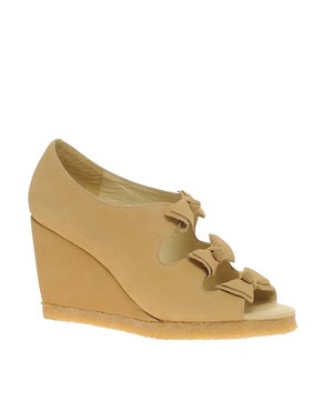 Image 1 ofF-Troupe Bow Wedge Sandals