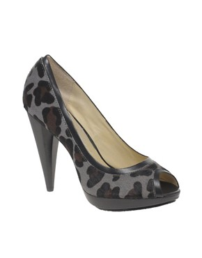 MICHAEL Michael Kors - Greenwich Leopard Print Peep Toe Heel from us.asos.com