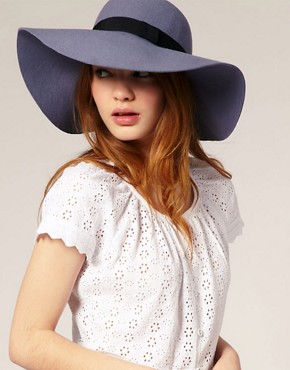Image 1 of&#160;ASOS '70s Floppy Felt Hat