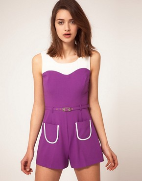 Image 1 of&#160;River Island Colour Block Playsuit