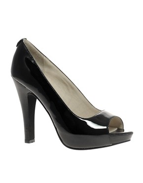 MICHAEL Michael Kors -  Chandler Patent Court :  high heels black pumps michael by michael kors chandler patent court peeptoe pumps