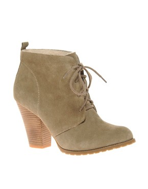 Image 1 of&#160;ASOS ARIZONA Suede Lace Up Shearling Ankle Boot