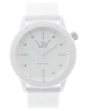Ltd Oversized White Bracelet Watch