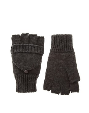 ASOS Flip Top Plain Flecked Mittens