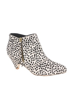 Image 1 of&#160;River Island Dalmation Print Low Ankle Boots