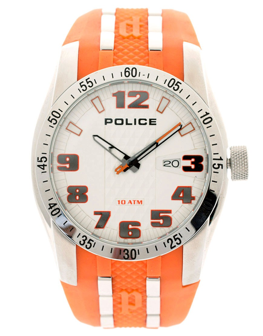 Police Orange Topgear Watch