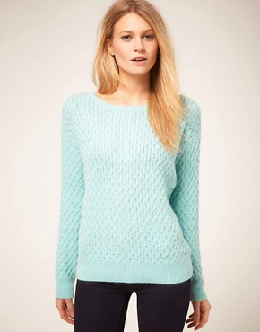 Image 1 of Oasis Fluffy Jumper With Zip Back