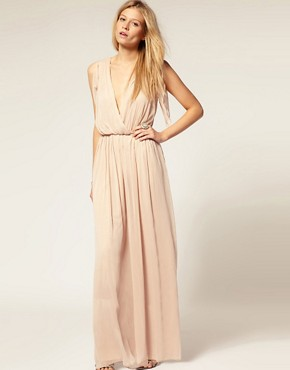 ASOS - Chiffon Cross-Over Maxi Jumpsuit :  asos asos chiffon crossover maxi jumpsuit chiffon jumpsut jumpsuit