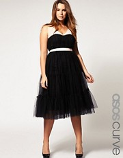 ASOS CURVE Exclusive Party Dress with Full Tutu Skirt