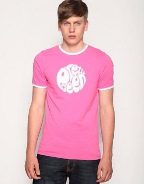 Pretty Green by Liam Gallagher Logo Crew Neck Ringer T-Shirt