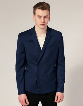Selected Double Breasted Cropped Blazer