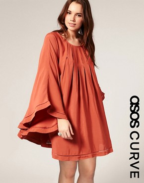 ASOS | ASOS CURVE Wowzer Batwing Dress at ASOS