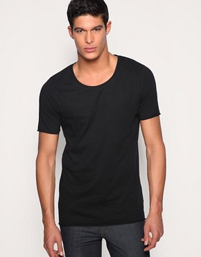 ASOS Longline Lightweight Low Scoop Neck T-Shirt