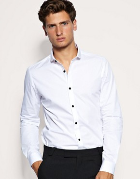 ASOS Slim Fit Shirt With Contrast Buttons