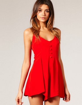 Motel - Gypsy Halter Neck Playsuit at ASOS :  romper halter neck playsuit one piece motel