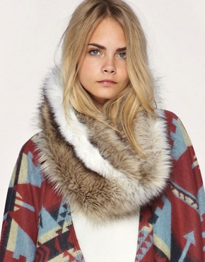 ASOS Long Fantasy Fur Snood :  faux fur scarf accessories fur scarf