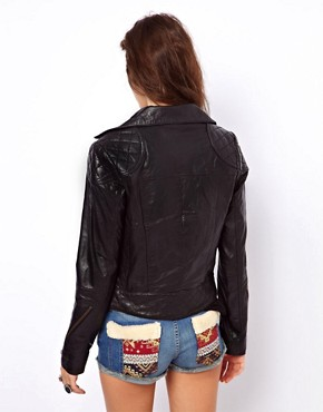 Image 2 of&nbsp;ASOS Leather Biker Jacket