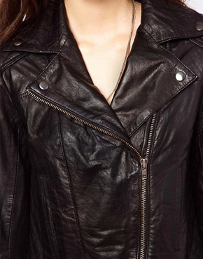 Image 3 of&nbsp;ASOS Leather Biker Jacket