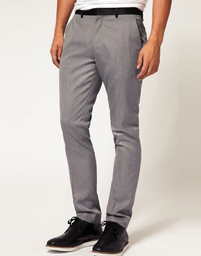 ASOS Slim Fit Tux Trousers