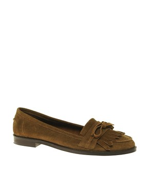 Image 1 of ASOS MERCURY Suede Bow Tassel Loafer