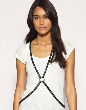 ASOS Genuine Leather And Metal Harness