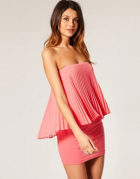 Image 1 of ASOS Pleated Bandeau Dress