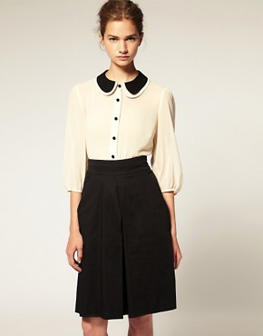 Image 1 of ASOS Double Peterpan Collar Blouse