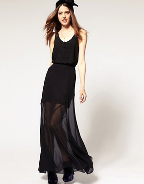 Image 1 of ASOS Maxi Skirt With Seam Detail