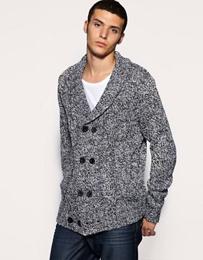 ASOS Double Breasted Flecked Shawl Cardi