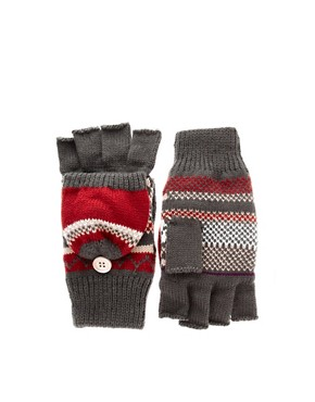 ASOS Fairisle Hood Fingerless Gloves