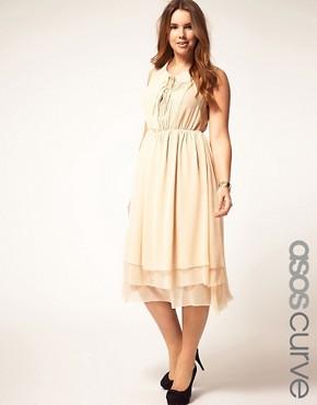 Image 1 of ASOS CURVE Midi Dress With Peter Pan Collar