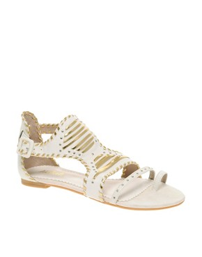 Killah - Geneviev Studded Flat Sandals :  soes killah geneviev studded flat sandals killah womens shoes