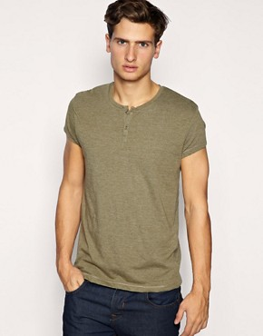 ASOS Capped Sleeve Grandad T-Shirt