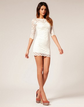 Image 4 of ASOS Lace Bodycon Dress