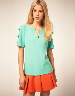 Image 1 of&#160;ASOS Shell Top With Bow Sleeve