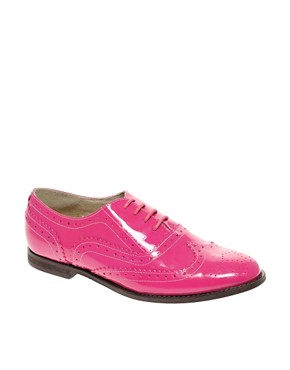 ASOS MARKY - Patent Leather Traditional Brogues from us.asos.com