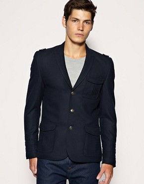 ASOS Slim Fit Military Midnight Blazer
