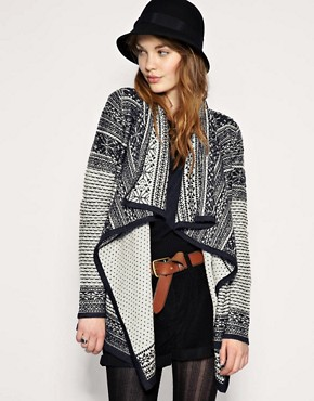 Image 1 of&#160;ASOS Pattern Wrap Blanket Cardigan