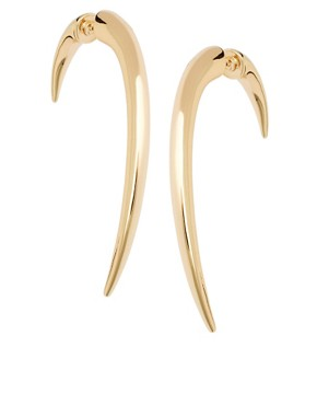 Image 1 of&#160;ASOS Large Curved Spike Earrings