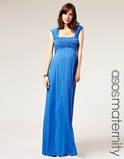 ASOS MATERNITY Exclusive Jersey Wrap Bust Maxi Dress
